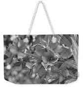 Tibouchina In Black And White Weekender Tote Bag