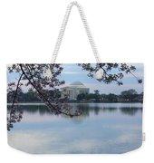 Tidal Basin Blossoms - Jefferson Memorial Weekender Tote Bag