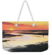 Tidal Flats At Sunset Weekender Tote Bag