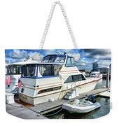 Tidewater Yacht Marina 5 Weekender Tote Bag by Lanjee Chee