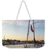 Tied Off For The Night Weekender Tote Bag