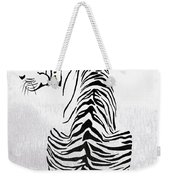 Tiger Animal Decorative Black And White Poster 4 - By  Diana Van Weekender Tote Bag