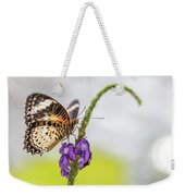 Tiger Butterfly Perched On A Flower Weekender Tote Bag