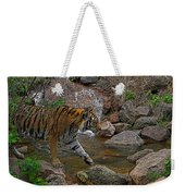 Tiger Crossing Poster Weekender Tote Bag
