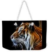 Tiger Fractal Weekender Tote Bag by Shane Bechler
