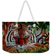 Tiger In Jungle Weekender Tote Bag