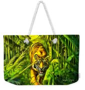 Tiger In The Forest Weekender Tote Bag