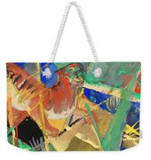Tiger In The Jungle By Franz Marc Red And Yellow Tiger On The Prowl Weekender Tote Bag
