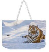 Tiger In The Snow Weekender Tote Bag