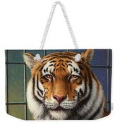 Tiger In Trouble Weekender Tote Bag by James W Johnson
