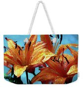 Tiger Lilies After The Rain - Painted Weekender Tote Bag