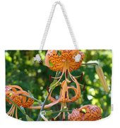 Tiger Lilies Art Prints Canvas Summer Tiger Lily Flowers Weekender Tote Bag
