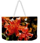 Tiger Lilies Weekender Tote Bag by Rona Black