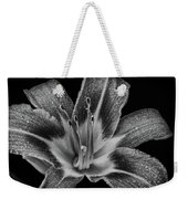Tiger Lily - Black And White Weekender Tote Bag