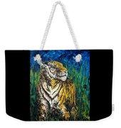 Tiger Night Hunt Weekender Tote Bag