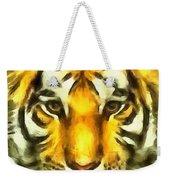 Tiger Painted Weekender Tote Bag