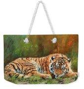 Tiger Repose Weekender Tote Bag
