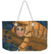 Tiger Sphinx Weekender Tote Bag