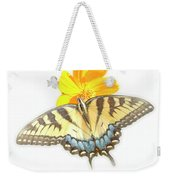 Tiger Swallowtail Butterfly, Cosmos Flower Weekender Tote Bag