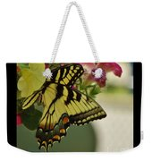Tiger Swallowtail Butterfly On Begonia Bloom         June            Indiana Weekender Tote Bag