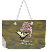 Tiger Swallowtail Butterfly On Common Milkweed 1 Weekender Tote Bag