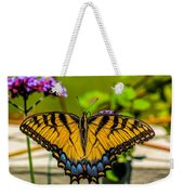 Tiger Swallowtail Butterfly By Fence Weekender Tote Bag