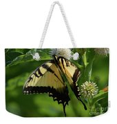 Tiger Swallowtail On Button Bush Weekender Tote Bag