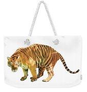 Tiger White Background Weekender Tote Bag