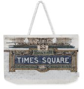 Tile Mosaic Sign, Times Square Subway New York, Handmade Sketch Weekender Tote Bag