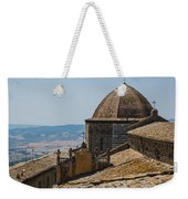 Tile Roof Tops Of Volterra Italy Weekender Tote Bag