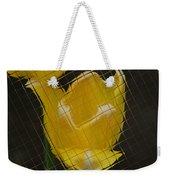 Tiled Yellow Tulip Weekender Tote Bag