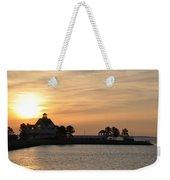 Tilghman Island Marina At Sunrise Weekender Tote Bag