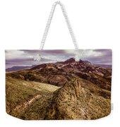 Tilt-shift Mountain Peak Weekender Tote Bag
