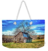 Tilted Log Cabin Weekender Tote Bag