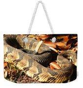 Timber Rattlesnake Horizontal Weekender Tote Bag