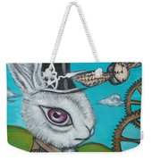 Time Flies For The White Rabbit Weekender Tote Bag