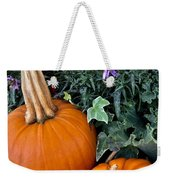 Time For Pumpkins In The Flower Beds Weekender Tote Bag