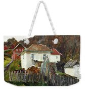 Time For Use The Stove. November In The Serbia. Weekender Tote Bag