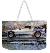 Time Machine Or The Retrofitted Delorean Dmc-12 Weekender Tote Bag
