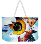 Time. Shattered Pieces Weekender Tote Bag