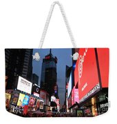 Time Square New York City Weekender Tote Bag