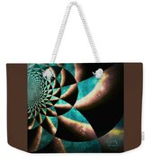 Time Travel Galaxy Portal To The Stars - Teal Green Weekender Tote Bag