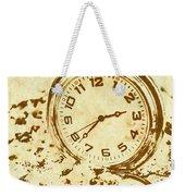 Time Worn Vintage Pocket Watch Weekender Tote Bag