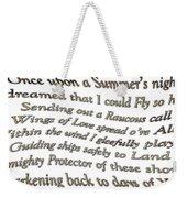 Timeless Dream 2 Weekender Tote Bag