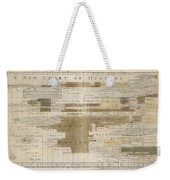 Timeline Map Of The Historic Empires Of The World - Chronographical Map - Historical Map Weekender Tote Bag