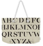 Times New Roman Weekender Tote Bag