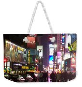Times Square In The Rain 1 Weekender Tote Bag