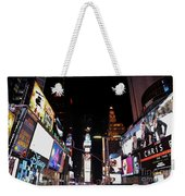Times Square New York City New Years Eve Weekender Tote Bag