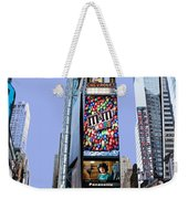 Times Square Nyc Weekender Tote Bag by Kelley King