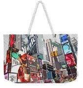 Times Square Pop Art Weekender Tote Bag
